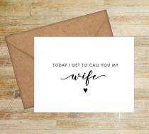 wedding photo - To My Wife Wedding Day Card