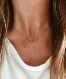 wedding photo - CUSTOM Morse Code Necklace in 14/20 Gold-fill, 14/20 Rose Gold-fill or Sterling Silver