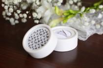wedding photo - White Ring Box, Round velvet ring box, Ring Box, Jewelry Box, Velvet ring box