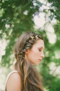 wedding photo - Gold Bridal Hair Pins Bridal Bobby Pins Bridal Hair Clips Gold Grecian Bridal Hair Accessories Greek Goddess Grecian Weddings Grecian Bride