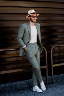 wedding photo - Men Linen suits, Linen Suits for men, Green linen suits,Men suits, 2 Piece suits, Men Summer Suits slim fit one button suits
