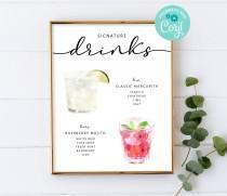 wedding photo - Signature Cocktails Sign