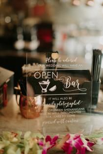 wedding photo - Open Bar Sign