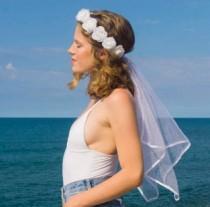 wedding photo - Bachelorette Veil - flower crown - FREE same day shipping! Bride veil, Hens Party veil, Hens Night , Bachelorette Sash, hen party