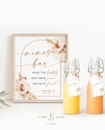 wedding photo - Mimosa Bar Bridal Shower Sign