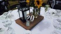 """wedding photo - Wedding 4"""" Table Numbers  (1-50) Free standing Galvanized Steel table numbers 5"""" tall over all & 4"""" wide"""