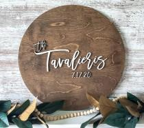 wedding photo - Large 3D Wood Cutout Guest Book/ Wedding Sign/ Wedding Guest Book/ Newly Wed Gift/ Wedding Shower Sign/ Large Wood Name Circle/