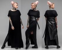 wedding photo - Black maxi dress, oversized dress, infinity dress, plus size dress, party dress, A0027