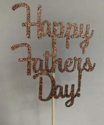wedding photo - Happy Father's Day cake topper