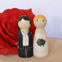 wedding photo - CUSTOM Wedding Peg Dolls