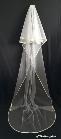 wedding photo - Cathedral Veil, Two Layers, Ivory