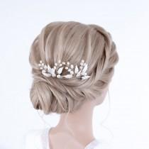 wedding photo - PERLEN ZWEIGE / Bridal hair accessories, hairpin from leaves & freshwater pearls, bridal hair accessories in IVORY silver / gold / rosé