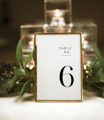 wedding photo - Minimalist Wedding Table Numbers, Modern Table Numbers, Templett Table Numbers, Reception Table Numbers, 5x7, 4x6, WLP-SLI 2988