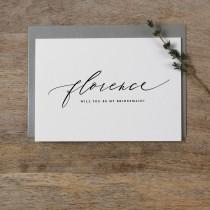 wedding photo - Personalised Bridesmaid Card, Custom Bridesmaid Card, Will You Be My Bridesmaid Card, Maid Of Honor Card Bridesmaid Proposal Card Wedding K6