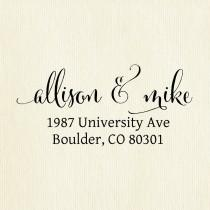 wedding photo - Personalized High Quality Rubber Address Stamp, Wedding Stamp, or Unique Gift for Housewarming or Birthday, Calligraphy font