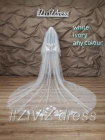 wedding photo - Wedding veil, Cathedral veil, Ivory veil, Black veil, Lace wedding veil, Veils, Vail, Mantilla