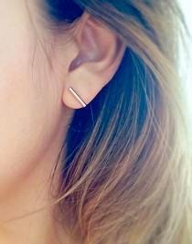 wedding photo - Bar Earrings