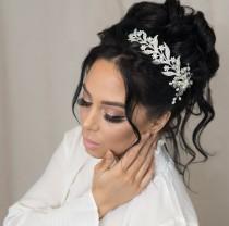 wedding photo - Bridal Hair Vine Comb Wedding Hair Piece Crystal Hair Vine Hair Accessories Rhinestone Hairpiece Bridal Headpiece Silver Bridal Headband