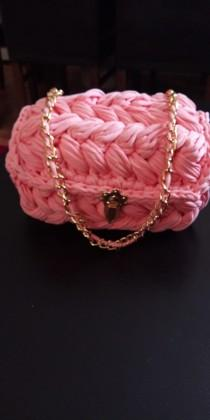 wedding photo - Hand knitted high quality material, ladies handbag, straw knit, personalized bag, Hand-knit women bag