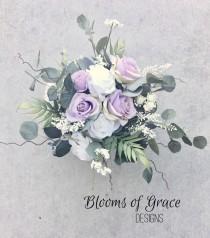 wedding photo - Lavender bridal bouquet, lilac bridal bouquet, lavender rose bride bouquet, romantic bride bouquet.