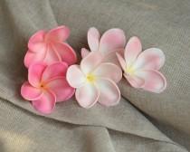 wedding photo - Pink Plumerias, Real Touch Flowers, flower heads, DIY cake decoration