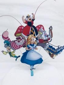 wedding photo - Alice in Wonderland Cake Topper (unofficial)