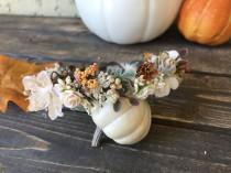 wedding photo - Fall Flower Crown, Baby Flower Crown, Wedding Flower Crown, Flower Girl Crown, Well Dressed Wolf, Baby Girl Headband