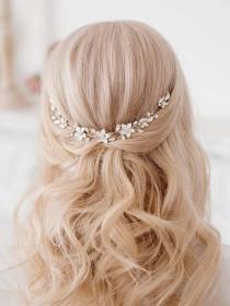 wedding photo - Wedding Hair Clip, Wedding Hair Accessories, Bridal Comb Crystal, Pearl & Floral Bridal Clip, Bridal Hair Piece,Bride Hair Accessories