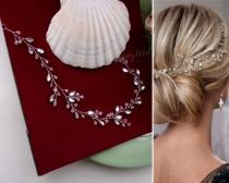 wedding photo - Crystals and rhinestones bridal hair piece Sparkling bridal hair vine Rhinestone wedding headband V0003