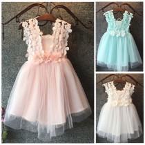 wedding photo - Cute girls summer dress- tulle flower girl dress- Tulle toddler dress