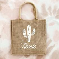 wedding photo - Desert Cactus Tote Bag Personalized Cactus Bags for Bachelorette Gifts Bag Bridesmaid Tote Cactus Theme Scottsdale Palm Springs (EB3259DST)