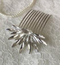 wedding photo - Etta Art Deco Starburst Vintage Style Crystal Bridal Bridesmaid Hair Comb 1920's Wedding Prom Flapper