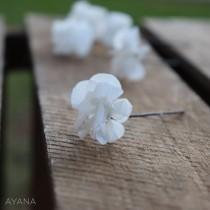 wedding photo - Preserved Hydrangea hair accessory for your hair, flowered peak for braid or bun, preserved natural flower wedding hair accessory