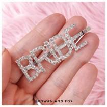 wedding photo - Bride diamante hair slide/ bride diamante hair clip / diamond hair clip/ bride tribe hair clip /bride to be accessories / bride accessory