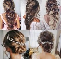 wedding photo - Bridal Hair Jewelry Wedding Vintage Wedding Hair Vine Hair Chain Wedding Bride Hair Accessories Bridal Jewelry 1 m Long