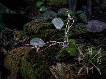 wedding photo - Elvish crown, elven tiara, rose gold elven circlet, elvish wedding headdress, LARP mermaid scale crown, medieval fantasy dragon crown