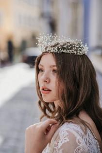 wedding photo - Light Clear Angelic Wedding Crystal Crown Bridal Tiara Swarovski Crystal Crown Tiara Mermaid Raw Quartz Crown Hair Vine Crystal Comb