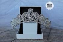 wedding photo - Bridal,Tiara ,Crystal Tiara, Swarovski , Bridal Tiara, Crystal Wedding Crown, Rhinestone Tiara, Wedding Tiara, Diamante Crown, Silver Crown