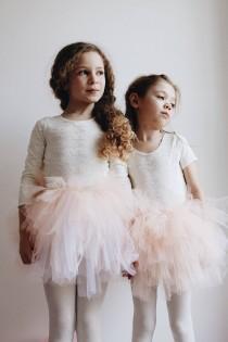wedding photo - Handmade lace and cotton leotard flower girl