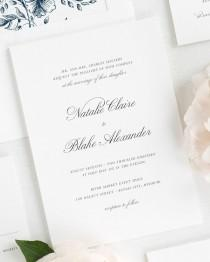 wedding photo - Classic Script Wedding Invitations - Sample