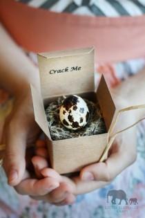 wedding photo - Bridesmaid Invitations - Quail Eggs - Maid of Honor Proposal - Unique Bridesmaid Proposal - Flower girl gift-  Woodland Wedding