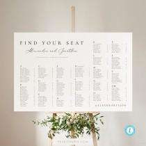wedding photo - Alphabetical seating chart template Download Minimalist Seating Alphabetized Printable Seating Plan Editable Sign Templett 10