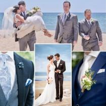 wedding photo - Wedding Party Group DEAL Men Custom Made Groom & Groomsman Suits And Tuxedos