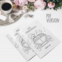 wedding photo - Malbuch Hochzeit für Kinder Hochzeitsmalbuch als PDF Gastgeschenk Kindermalbuch