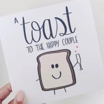 wedding photo - Funny wedding card, engagement card, punny card, happy couple, congratulations, toast to the happy couple, civil partnership