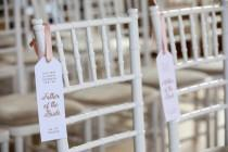 wedding photo - Foiled Personalised Wedding Seat Reservation Tag