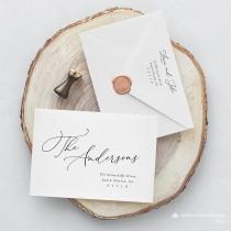 wedding photo - Minimal elegant Envelope address Template,Address label,Printable Envelope Address Template,Modern Calligraphy Wedding Editable Envelope