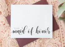 wedding photo - Maid of Honor Thank You Cards - Wedding Thank You Cards - Bridesmaid - Flower Girl - Matron of Honor EL217