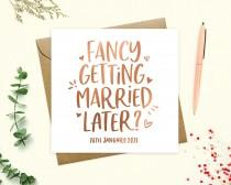 wedding photo - To my groom or bride Wedding Day Card, Personalised Groom or Bride Card, Fancy getting married later, Wife, Husband, Keepsake, Real Foil
