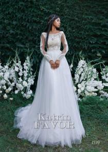 wedding photo - Long Sleeve Wedding Dress Simple Wedding Dress Alternative Wedding Dress Tulle Wedding Dress Lace Wedding Dress A Line Wedding Dress Beaded